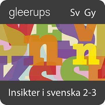 Insikter i svenska 2-3, digital, elevlic. 12 mån
